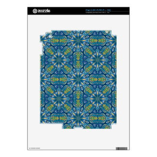 Colorful abstract ethnic floral mandala pattern de decals for the iPad 2
