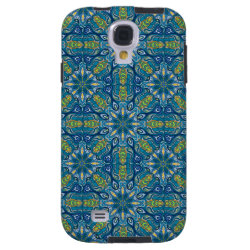 Colorful abstract ethnic floral mandala pattern de galaxy s4 case