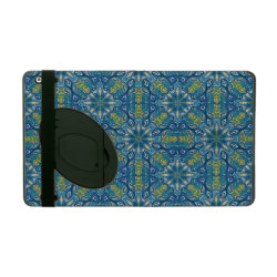 Colorful abstract ethnic floral mandala pattern de iPad folio case