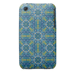 Colorful abstract ethnic floral mandala pattern de iPhone 3 case