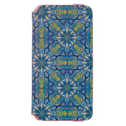 Colorful abstract ethnic floral mandala pattern de iPhone 6/6s wallet case
