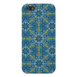 Colorful abstract ethnic floral mandala pattern de iPhone SE/5/5s cover
