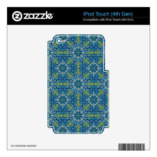 Colorful abstract ethnic floral mandala pattern de iPod touch 4G decal