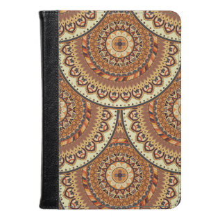 Colorful Abstract Ethnic Floral Mandala Pattern De Kindle Case at Zazzle