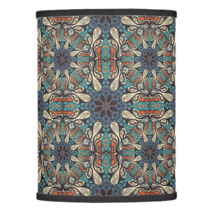 Ethnic lamp shades zazzle colorful abstract ethnic floral mandala pattern de lamp shade mozeypictures Images