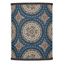 Ethnic lamp shades zazzle colorful abstract ethnic floral mandala pattern de lamp shade mozeypictures Image collections