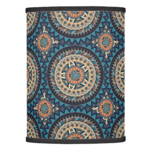 Moroccan lamp shades zazzle colorful abstract ethnic floral mandala pattern de lamp shade mozeypictures Image collections