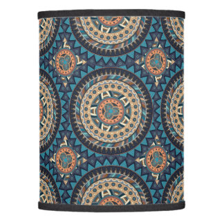Colorful abstract ethnic floral mandala pattern de lamp shade