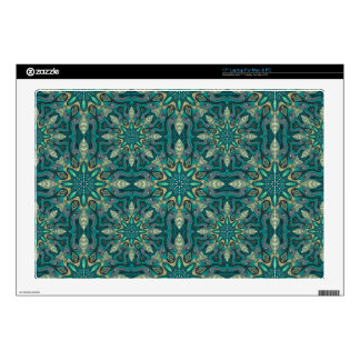 Colorful abstract ethnic floral mandala pattern de laptop decal