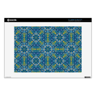 Colorful abstract ethnic floral mandala pattern de laptop decals