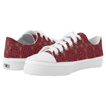 Aztec Themed Colorful abstract ethnic floral mandala pattern de Low-Top sneakers