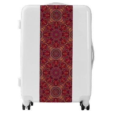 Aztec Themed Colorful abstract ethnic floral mandala pattern de luggage