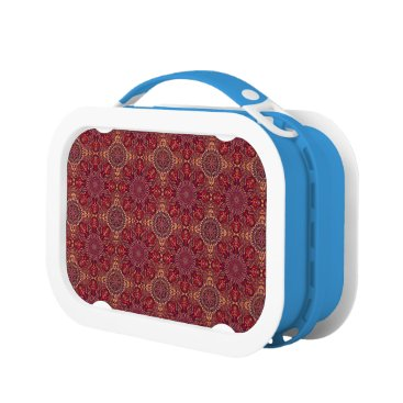Aztec Themed Colorful abstract ethnic floral mandala pattern de lunch box