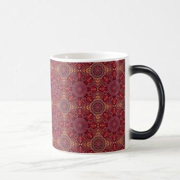 Aztec Themed Colorful abstract ethnic floral mandala pattern de magic mug