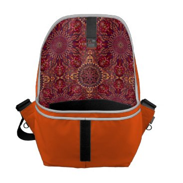 Aztec Themed Colorful abstract ethnic floral mandala pattern de messenger bag