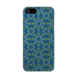 Colorful abstract ethnic floral mandala pattern de metallic iPhone SE/5/5s case