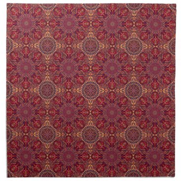 Aztec Themed Colorful abstract ethnic floral mandala pattern de napkin