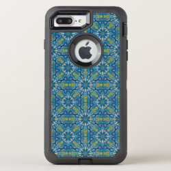 Colorful abstract ethnic floral mandala pattern de OtterBox defender iPhone 7 plus case