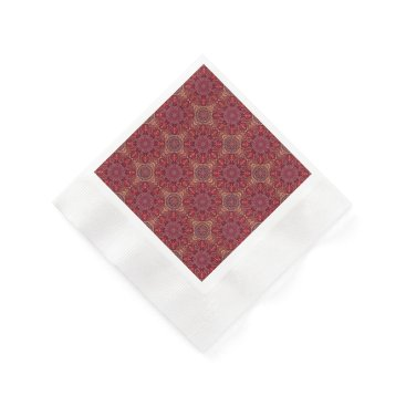 Aztec Themed Colorful abstract ethnic floral mandala pattern de paper napkin