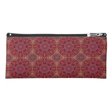 Aztec Themed Colorful abstract ethnic floral mandala pattern de pencil case