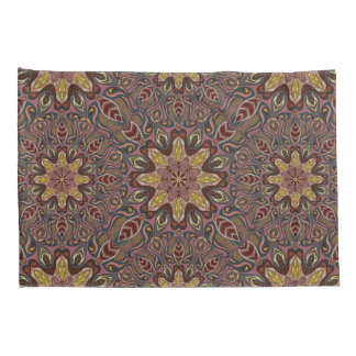 Colorful abstract ethnic floral mandala pattern de pillow case