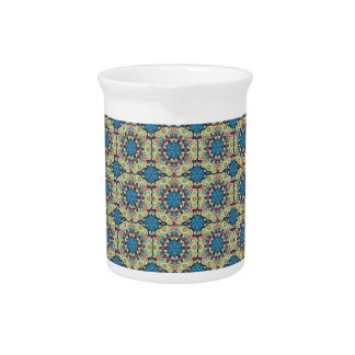 Colorful abstract ethnic floral mandala pattern de pitcher