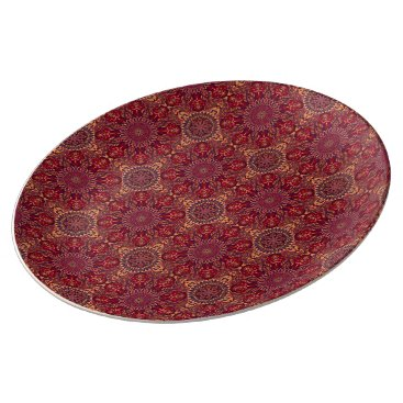 Aztec Themed Colorful abstract ethnic floral mandala pattern de plate