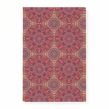 Aztec Themed Colorful abstract ethnic floral mandala pattern de post-it notes