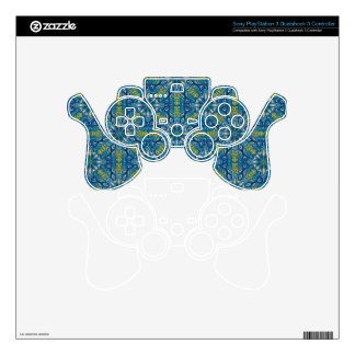 Colorful abstract ethnic floral mandala pattern de PS3 controller skins