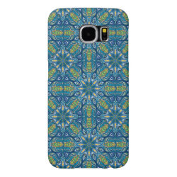 Colorful abstract ethnic floral mandala pattern de samsung galaxy s6 case