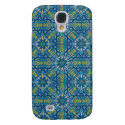 Colorful abstract ethnic floral mandala pattern de samsung s4 case