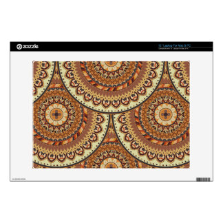 Colorful abstract ethnic floral mandala pattern de skin for laptop