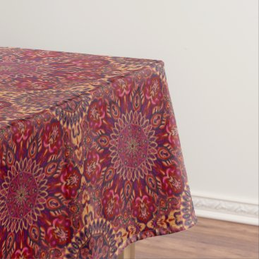 Aztec Themed Colorful abstract ethnic floral mandala pattern de tablecloth