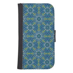 Colorful abstract ethnic floral mandala pattern de wallet phone case for samsung galaxy s4