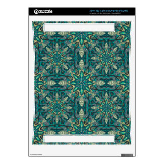 Colorful abstract ethnic floral mandala pattern de xbox 360 console decals