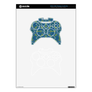 Colorful abstract ethnic floral mandala pattern de xbox 360 controller decal