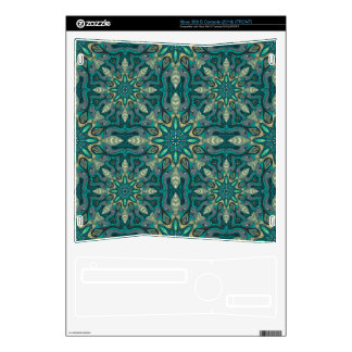 Colorful abstract ethnic floral mandala pattern de xbox 360 s decal