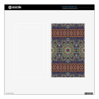Colorful abstract ethnic floral mandala pattern decal for kindle fire