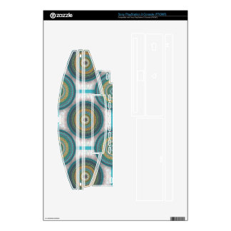 Colorful abstract ethnic floral mandala pattern decal for PS3