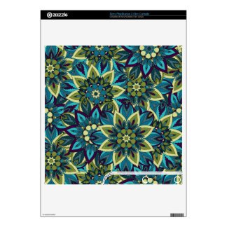 Colorful abstract ethnic floral mandala pattern decal for PS3 slim