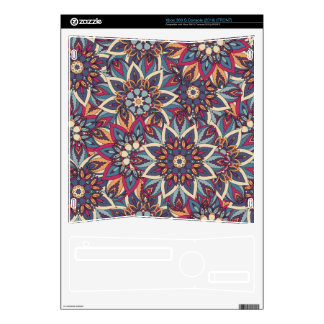 Colorful abstract ethnic floral mandala pattern decal for the xbox 360 s