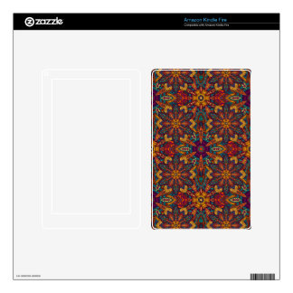 Colorful abstract ethnic floral mandala pattern decals for kindle fire