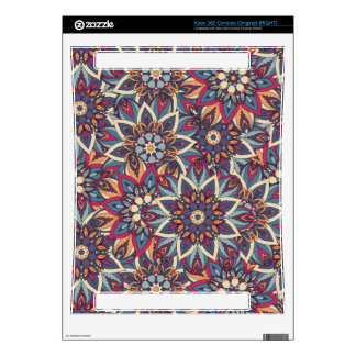 Colorful abstract ethnic floral mandala pattern decals for the xbox 360