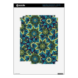 Colorful abstract ethnic floral mandala pattern iPad 3 decals