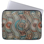 Colorful abstract ethnic floral mandala pattern laptop sleeve