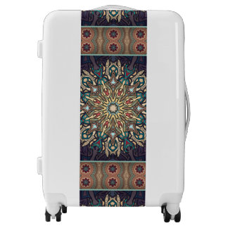 Colorful abstract ethnic floral mandala pattern luggage