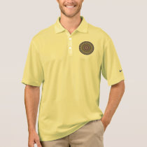 Colorful abstract ethnic floral mandala pattern polo shirt