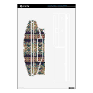Colorful abstract ethnic floral mandala pattern skin for PS3
