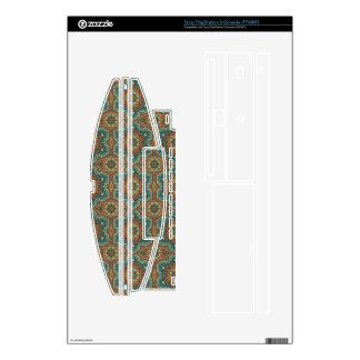 Colorful abstract ethnic floral mandala pattern skin for PS3 console