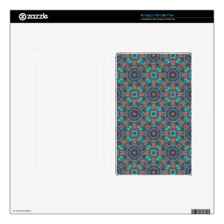 Colorful abstract ethnic floral mandala pattern skins for kindle fire